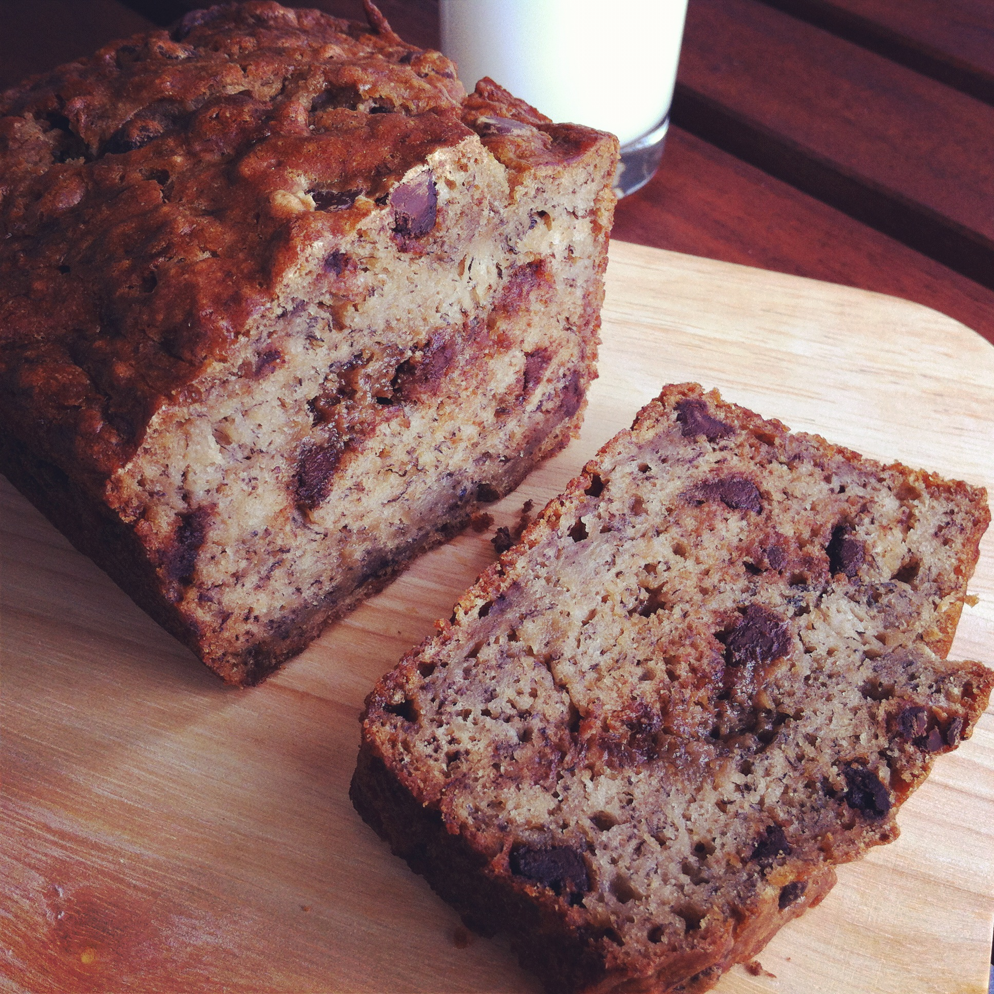 Late night snack: Chocolate Chip Banana Bread | A Little Breather